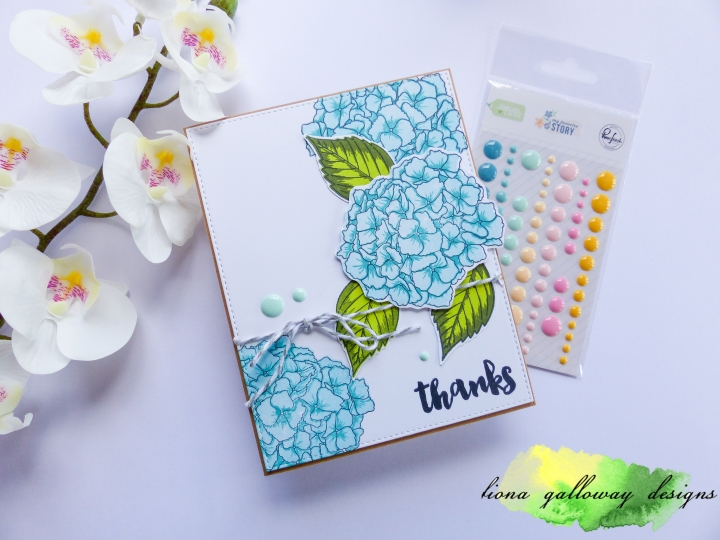 CAS Hydrangea Card using Altenew Stamps